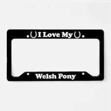 I Love My Welsh Pony License Plate Holder