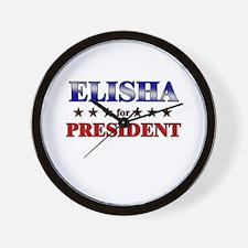 ELISHA for president Wall Clock