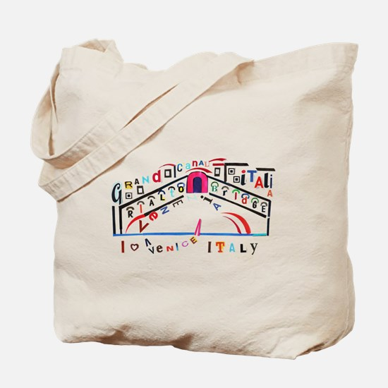 Venice, Italy Typography Tote Bag