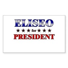 ELISEO for president Rectangle Decal
