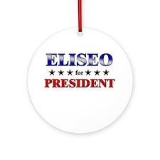ELISEO for president Ornament (Round)