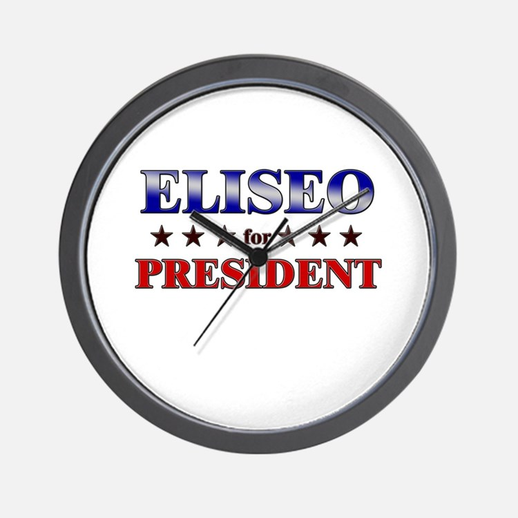 ELISEO for president Wall Clock