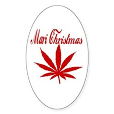 Mari Christmas Oval Decal