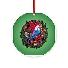 Budgie Ornament (Round)