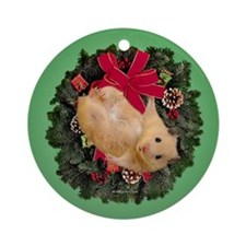 Hamster Ornament (Round)
