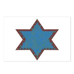 Jewish Star Postcards (Package of 8)