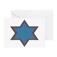 Jewish Star Chanukah Card