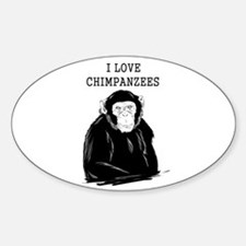 I Love Chimpanzees Decal