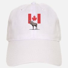 Canadian Flag with Moose Baseball Baseball Cap