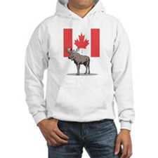 Canadian Flag with Moose Hoodie