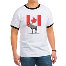 Canadian Flag with Moose T