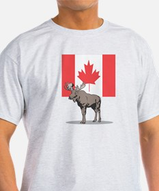 Canadian Flag with Moose T-Shirt
