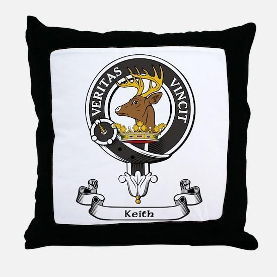 Badge - Keith Throw Pillow