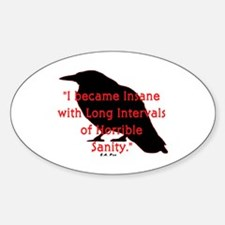 POE QUOTE Oval Decal