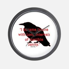 POE QUOTE Wall Clock