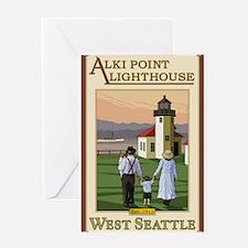 Seattle, Washington - Alki Point Lighthouse Greeti
