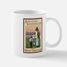 Seattle, Washington - Alki Point Lighthouse Mugs