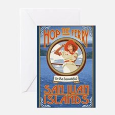 San Juans - Hop the Ferry Greeting Cards