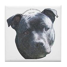 Staffordshire Bull Terrier Tile Coaster