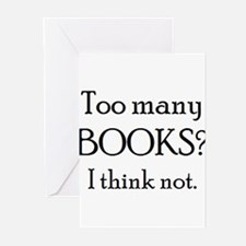 too many books Greeting Cards