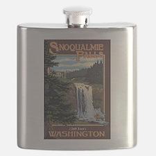 Snoqualmie Falls, Washington Flask