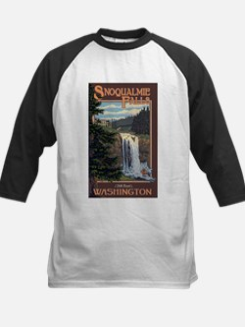 Snoqualmie Falls, Washington Baseball Jersey