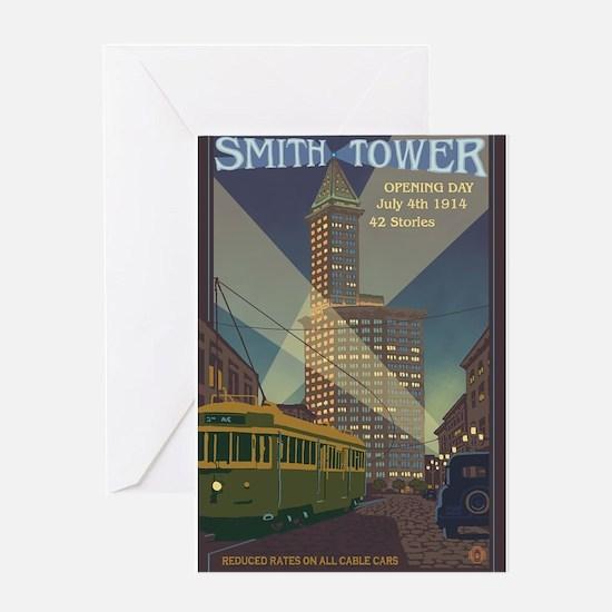 Seattle, Washington - Smith Tower Greeting Cards