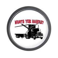 WHAT'S YER HANDLE?? Wall Clock