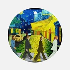 Fab4 Van Gogh Road Round Ornament