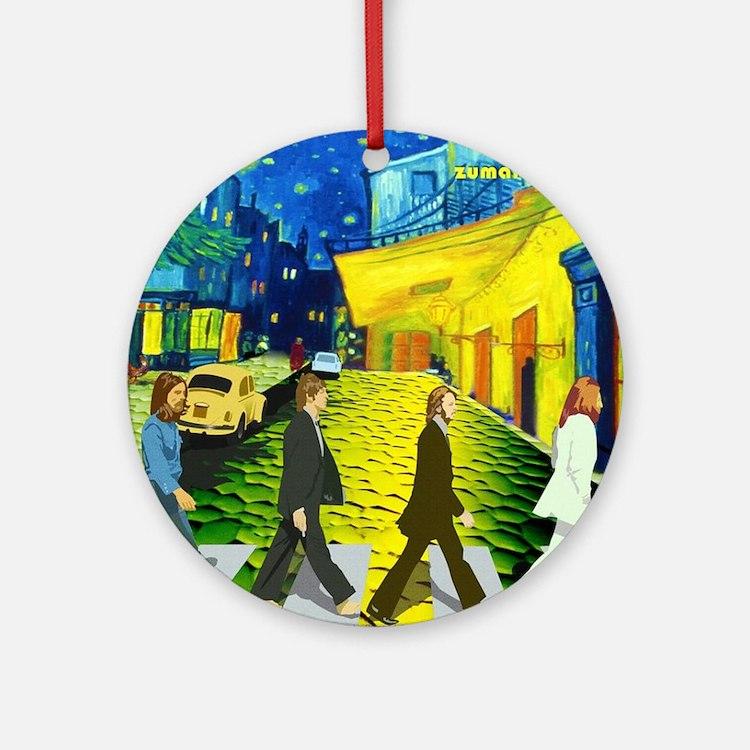 Fab4 Van Gogh Road Round Ornament