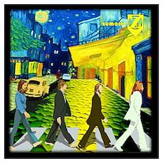 Fab4 Van Gogh Road Wall Art Poster