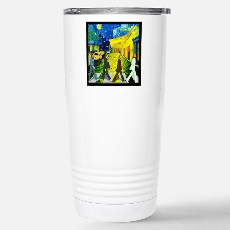 Fab4 Van Gogh Road Stainless Steel Travel Mug