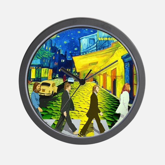 Fab4 Van Gogh Road Wall Clock