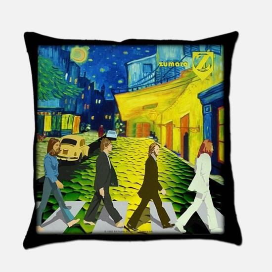 Fab4 Van Gogh Road Everyday Pillow