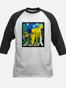 Fab4 Van Gogh Road Kids Baseball Jersey