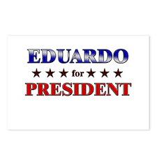 EDUARDO for president Postcards (Package of 8)