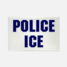 Police ICE Rectangle Magnet