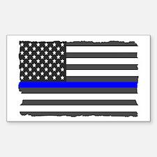 US Flag Blue Line Decal