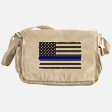 US Flag Blue Line Messenger Bag