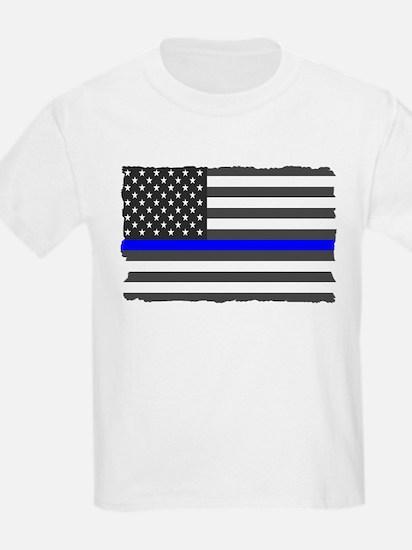 US Flag Blue Line T-Shirt