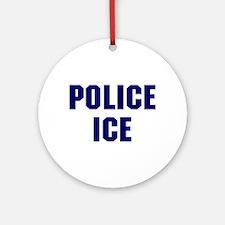 Police ICE Ornament (Round)