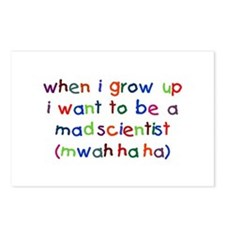 Grow Up - Mad Scientist Postcards (Package of 8)