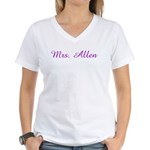 Mrs. Allen  Women's V-Neck T-Shirt