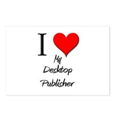 I Love My Desktop Publisher Postcards (Package of