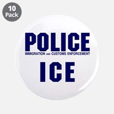 """POLICE ICE 3.5"""" Button (10 pack)"""