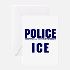 POLICE ICE Greeting Card