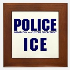 POLICE ICE Framed Tile