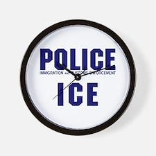 POLICE ICE Wall Clock