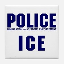 POLICE ICE Tile Coaster