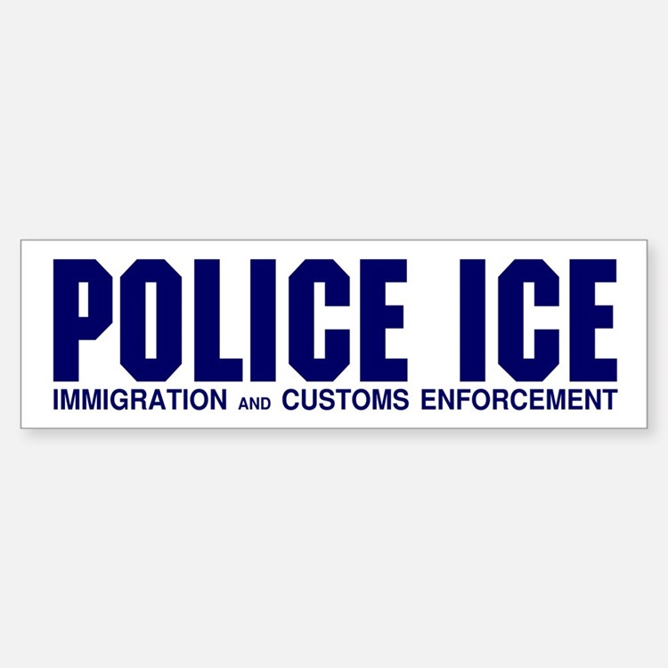 POLICE ICE Bumper Bumper Bumper Sticker